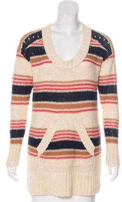 Tory Burch Striped Scoop-Neck Sweater