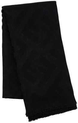 Fendi Maxi Macro Logo Wool & Cashmere Scarf