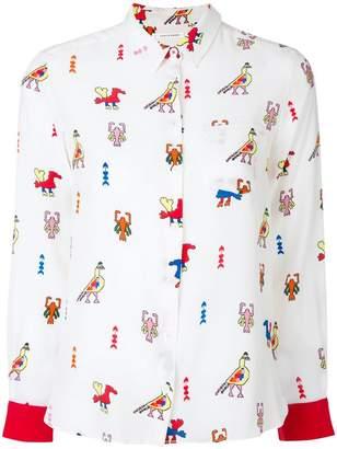 Parker Chinti & aztec print shirt