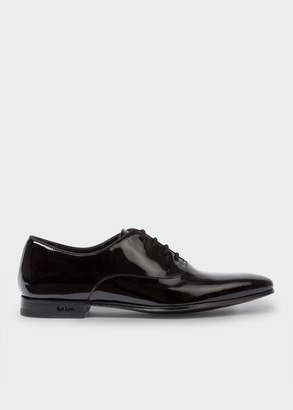 Paul Smith Men's Black Patent Leather 'Fleming' Oxford Shoes