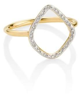 Monica Vinader 'Riva' Diamond Hoop Ring