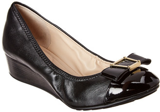 Cole Haan Emory Bow Leather Wedge