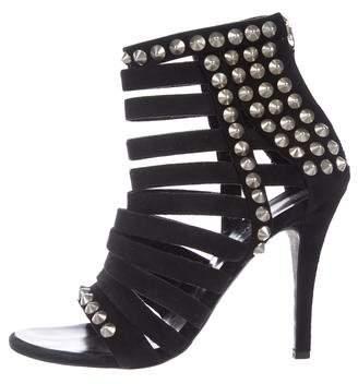 Giuseppe Zanotti x Balmain Suede Embellished Sandals