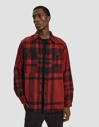 Engineered Garments Work Plaid Shirt in Red/Black