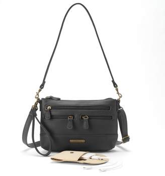 Co Stone & Leather 4-Bagger Phone Charging Convertible Crossbody Bag