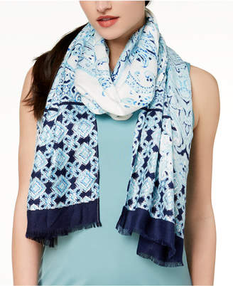 INC International Concepts I.N.C. Swimming Tiles Wrap & Scarf in One, Created for Macy's