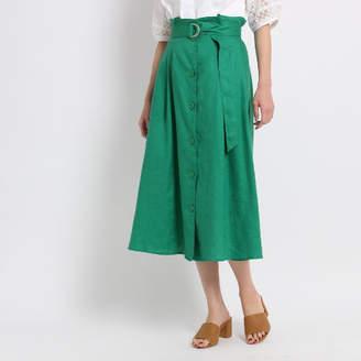 Dessin (デッサン) - Dessin(Ladies) 【洗える】リネンキャンバススカート