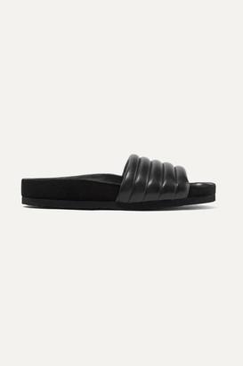Isabel Marant Hellea Quilted Leather Slides - Black