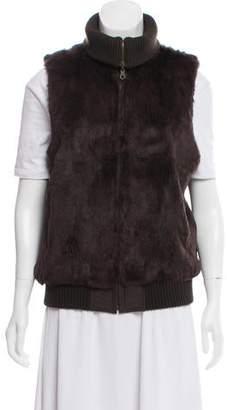 Theory Reversible Fur Vest
