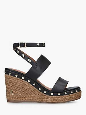 7aad1b8250 Kurt Geiger London Alma Leather Studded Espadrille Wedge Sandals