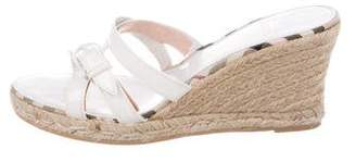 Burberry Multistrap Espadrille Wedges