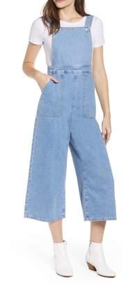 Topshop Wide Leg Crop Overalls