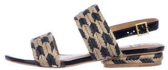 Tory Burch Braided Ankle Strap Sandals