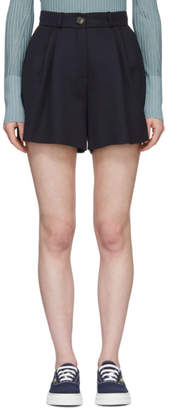 Harmony Navy Wool Perrine Shorts
