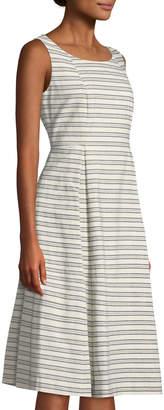 Lafayette 148 New York Macenna Striped A-Line Dress