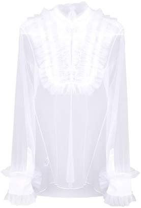 74b2b70fdcb522 Viktor & Rolf sheer ruffled blouse
