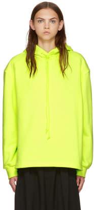Juun.J Yellow Bi-Fabric Hoodie