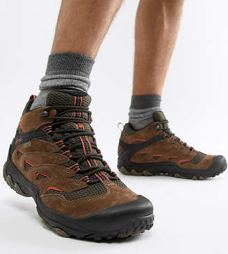 Merrell Chameleon 7 Limit hiking festival boots in brown