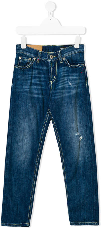 Dondup Kids Jeans in Distressed-Optik