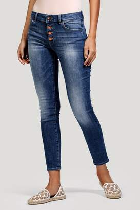 DL1961 Exposed Button Ankle Skinny