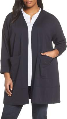 Eileen Fisher Stretch Cotton Long Jacket