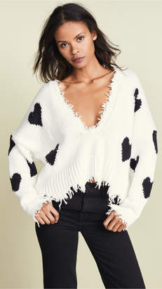Wildfox Couture Hearts Palmetto Sweater