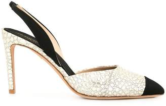 Giambattista Valli panelled slingback pumps