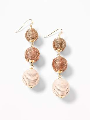 Old Navy Linear Textured-Fabric Drop Earrings for Women