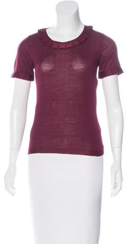 Christian Dior Short Sleeve Wool Top
