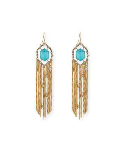Alexis Bittar Alexis Bittar Crystal Fringe Tassel Earrings