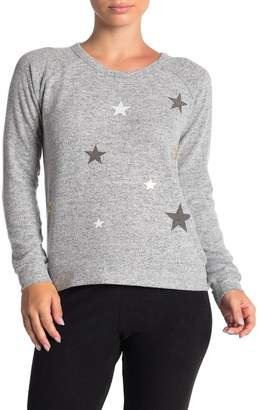 Theo and Spence Yummy Star Print Brushed Knit Pullover