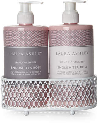 Laura Ashley English Tea Rose Blossoming Hand Care Duo Caddy