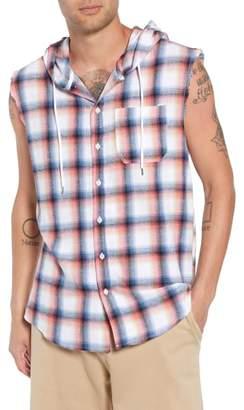 The Rail Sleeveless Plaid Hooded Shirt