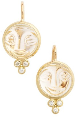 Women's Temple St. Clair Moonface Diamond & Rock Crystal Earrings $1,250 thestylecure.com