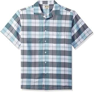 Haggar Men's Short Sleeve Textured Shirts