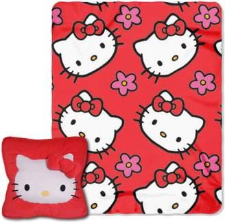 Hello Kitty Kohl's Kitty Flowers 3D Pillow & Throw Set