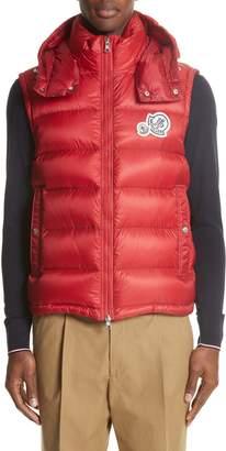 Moncler Gilet Double Logo Hooded Vest
