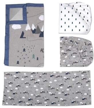 Living Textiles Peaks 4-Piece Crib Bedding Set