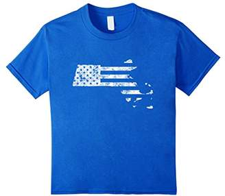 Massachusetts State USA Flag Map Boston T Shirt