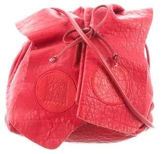 Carlos Falchi Mini Leather Crossbody Bag