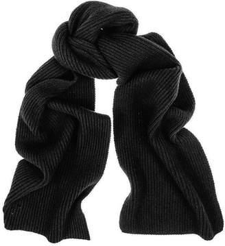 Black Rib Knit Cashmere Scarf