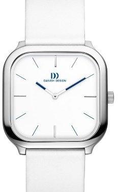 Danish Design (ダニッシュ デザイン) - デンマークデザインiv12q962ステンレススチールCase White DialレザーBandユニセックスWatch