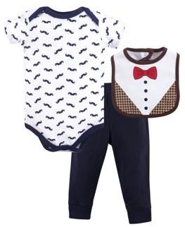 Hudson Baby Bodysuit and Pant 3pc set (Baby Boys)