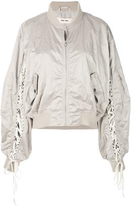 Damir Doma lace up bomber jacket