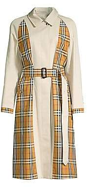 Burberry Women's Guiseley Inside-Out Check Trench Coat