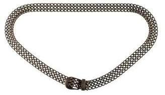 Chanel Chain-Link Logo Belt