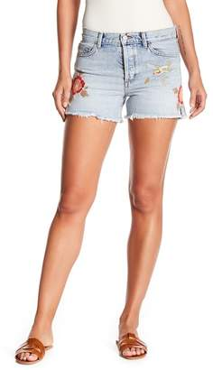 Siwy Denim Avery Floral Embroidered Shorts
