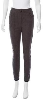 Moncler Plaid Mid-Rise Pants