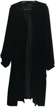 Martine Sitbon Black Velvet Coat for Women