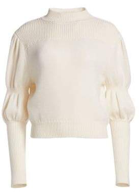 Derek Lam 10 Crosby Wool Puff-Sleeve Sweater